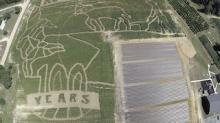 Студенты с помощью ГНСС рисуют картинки на полях