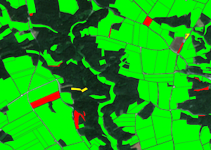 Спутниковый мониторинг сельскохозяйственных участков в Германии